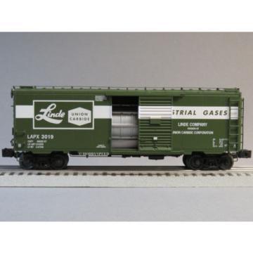 LIONEL LINDE UNION CARBIDE AIR PRODUCTS PS-1 BOXCAR 3019 o gauge train 6-82624