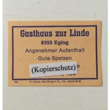 Zündholzetikett: Gasthaus Zur Linde 8359 Eging      (21011514)