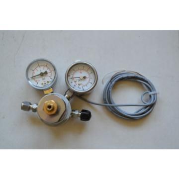 Linde Druck Regler + Afriso Membranfeder Manometer RF50IK1.2 /D3+Wika Manometer
