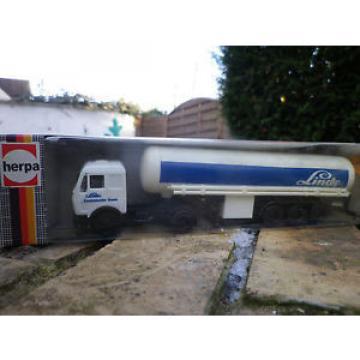 HERPA HO 1:87 811110 MERCEDES camion SEMI REMORQUE TANKER LINDE NEUF en BOITE