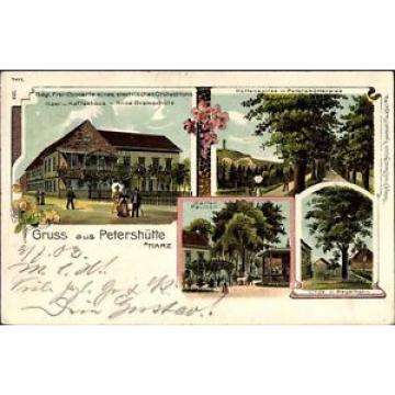 Litho Petershütte Osterode am Harz in Niedersachsen, Linde mit... - 1235704