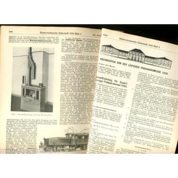 "MÄRKLIN Krokodil LINDE Kühlschrank Radio "" Elektro-Technische Zeitschrift "" 1935"