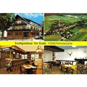 AK, Uslar, OT Fürstenhagen, Landgasthaus Zur Linde, vier Abb., um 1985