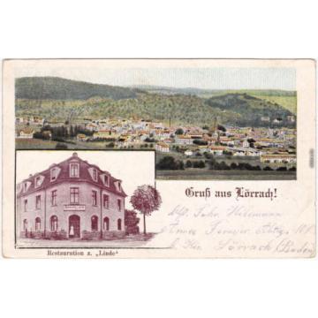 Lörrach 2 Bild: Restauration zur Linde und Panorama 1917