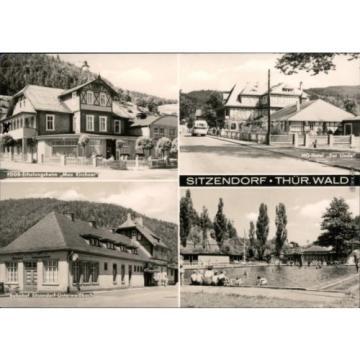 Sitzendorf FDGB-Erholungsheim Hotel Linde, Bahnhof, Schwimmbad 1972