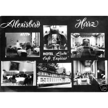 """Foto im AK-Format, Alexisbad Harz, Hotel """"Linde"""", Café """"Exquisit"""", um 1970"""