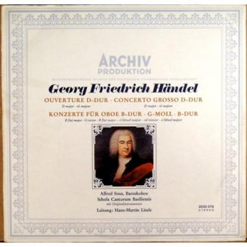 ARCHIV Handel SOUS Oboe Concerto LINDE Overture/Concerto Grosso 2533 079