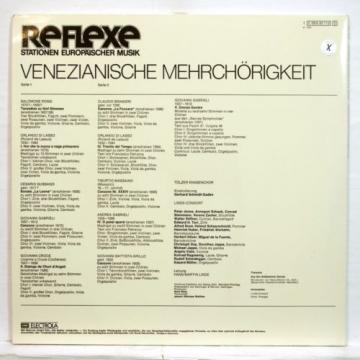 LINDE CONSORT - VENETIAN POLYCHORAL MUSIC - EMI Reflexe LP NM