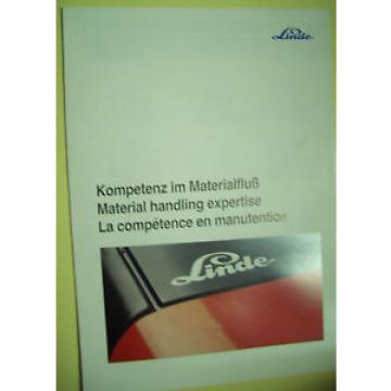 Sales Brochure Original Prospekt Linde Stapler Staplerangebotsübersicht 8 Seiten
