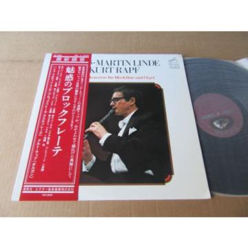 HANS MARTIN LINDE RECORDER & ORGAN CONCERTOS PURCELL VICTOR JAPAN AUDIOPHILE LP