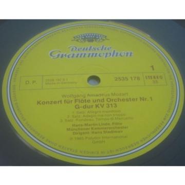 Mozart Flute Concertos Nos. 1 & 2 Linde / Nicolet DGG 2535 178 LP EX