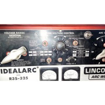 LINCOLN IDEALARC R3S-325 DC MIG WELDER W/ LINDE SPOOL GUN FOR ALUMINUM WELDING