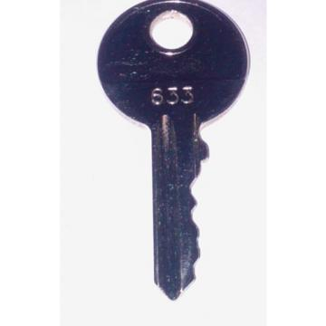 LINDE 633 FORKLIFT KEY CUT TO CODE, PROFESSIONAL KEYSMITH SERVICE!!