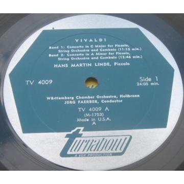 Vivaldi 4 Concerti Faerber / Stingl / Martin Linde  Lemmen Vox Turnabout lp EX 