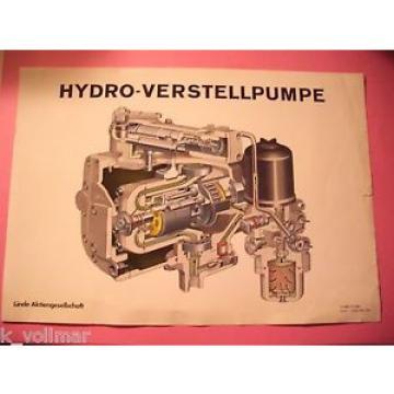 ✪ Prospekt Linde Hydraulik Hydro Verstellpumpe Pumpe Querschnitt A 1885 T5 1269
