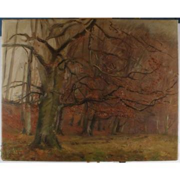 Monograma T H - Am Linde del bosque en el otoño árboles de hoja caduca