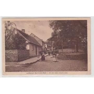69444 Ak Luftkurort Gernrode Harz an der alten Stadt Linde um 1920