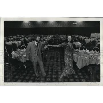 1979 Press Photo John & Patty Linde dancing at Grand Ballroom of Hilton Hotel