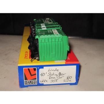 HO Scale Life-Like Linde Union Carbide 40' Sliding Door Box Car LAPX #358