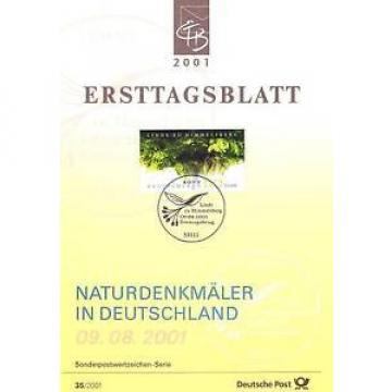 BRD 2001: Linde von Himmelsberg! Ersttagsblatt Nr. 2208 mit Bonner Stempel! 1A