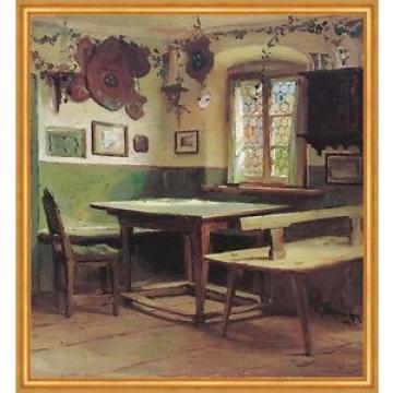 Künstlerstammtisch im Hotel Linde Karl Raupp Wirtschaft Chiemseemaler LW 143