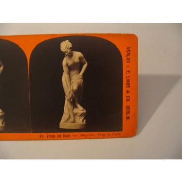 Sculpture Stereoview Photo cdii Stiehm Linde 49 Venus im Bade von Allegrain