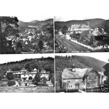 """AK, Sitzendorf Thür. Wald, vier Abb., u.a. HO-Hotel """"Zur Linde"""", 1974"""