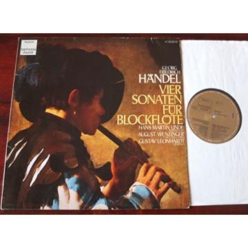 HANDEL 4 RECORDER SONATAS LP LINDE HARMONIA MUNDI 1C065-99720 GERMANY (RE)