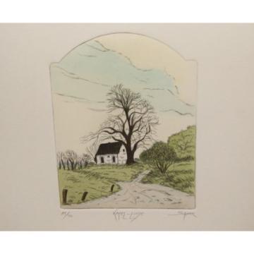 Peter K. SCHAAR Kapel-Linde 14/50 Original Radierung Signiert