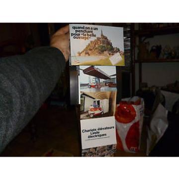 Dépliant Chariot Elevateur Linde 1978 Au Mont St Michel !!!!!!!!!!!!!!!!!!!!!!!
