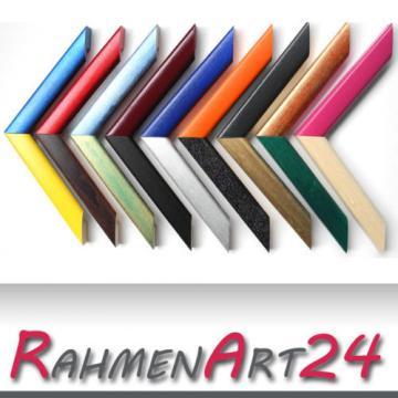 Bilderrahmen Fotorahmen Massivholz Linde Schmal 18x24 in verschiedenen Farben