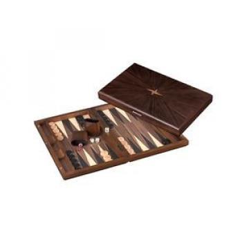 Iraklia - groß - Backgammon - Kassette - Linde und Ebenholzoptik