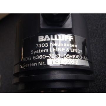 Lot of 2  Balluff BDG 6360-78-3-05-1080-65  LEINE & LINDE Incremental Encoder