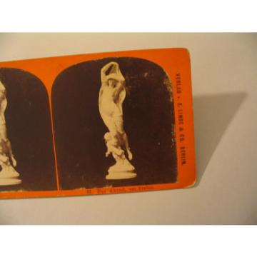 Sculpture Statuary Stereoview Photo cdii Linde Stolze 57 Der Abend Pradier