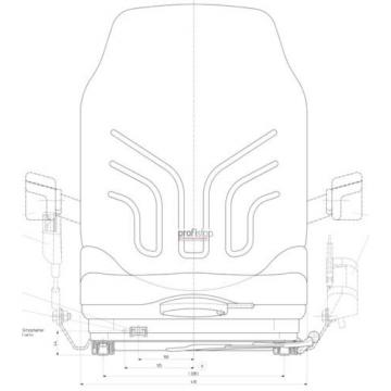 Grammer Msg 20 Narrow Fabric Seat Forklift Reach Truck Jungheinrich Still Linde