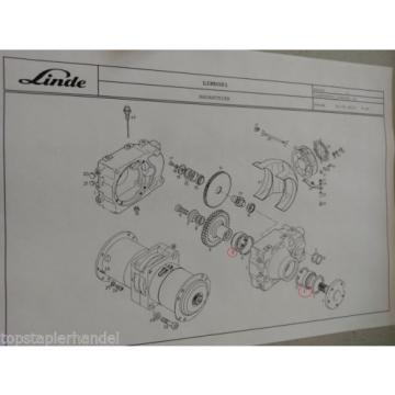 Needle roller bearings Warehouse Linde no. 9509000875 Type H/T/L/E BR 131,144,