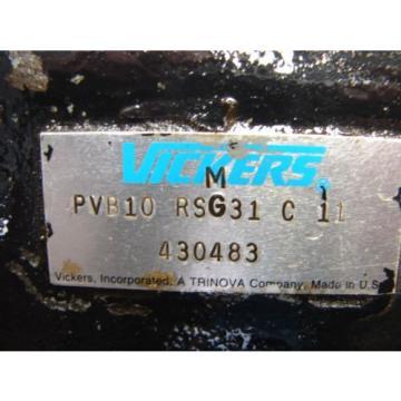 VICKERS HYDRAULIC PUMP PVB10RSG31C11
