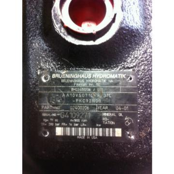 Rexroth Italy Japan AA10v071dr/31L Hydraulic Pump