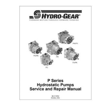 Pump PG-1JBC-DY1X-XXXX/482638/482512/482326/BDP-10A-317 HYDRO GEAR OEM FOR TRANS