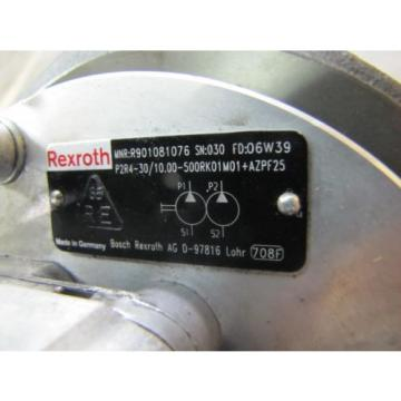 BOSCH France Germany REXROTH R901081076 P2R4-30/10.00 HYDRAULIC PUMP 0510715017 GEAR MOTOR