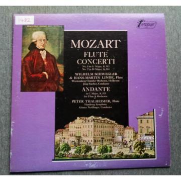 Mozart Flute Concerti 1 2 Turnabout Vox TV-S 34511 Schwegler Linde Faerber
