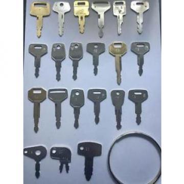 Plant Hire Key Set - 21 Keys - JCB, Lucas, Komatsu, Kubota & more *FREE POSTAGE*