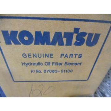 GENUINE KOMATSU HYDRAULIC FILTER 07063-01100 & OIL FILTER 6003118321  FITS WA120