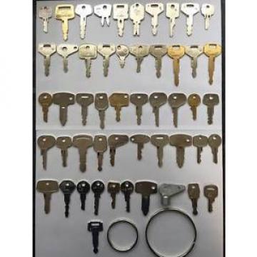 51 Heavy Plant Key Set for JCB, Kubota, Komatsu, CAT etc - FREE POSTAGE