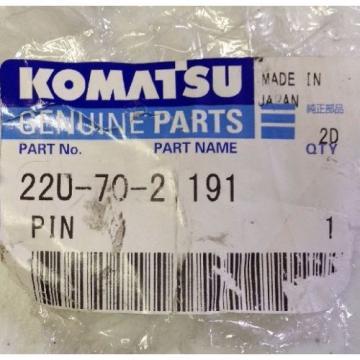KOMATSU GENUINE PARTS 22U-70-21191 PIN FREE SHIPPING