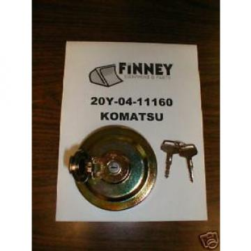 Komatsu Excavator Locking Fuel Cap 20Y-04-11161 NEW with keys PC120 PC220 PC225