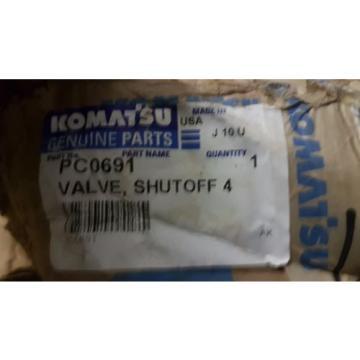 New Komatsu Shut Off Valve PC0691 Made in USA