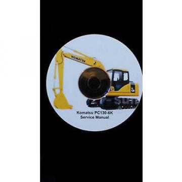 KOMATSU PC130-6K EXCAVATOR SERVICE MANUAL ON CD *FREE POSTAGE*