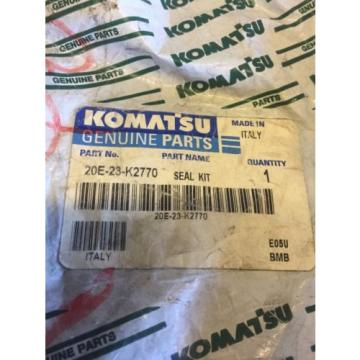 New OEM Genuine Komatsu PC Series Excavators Seal Kit 20E-23-K2770 Warranty!