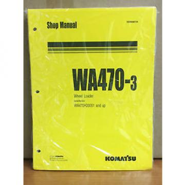 Komatsu WA470-3 Wheel Loader Shop Service Repair Manual (WA470H20051 & up)